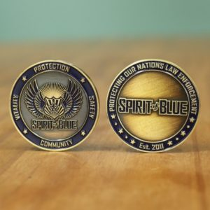Spirit of Blue Challenge Coin - Standing-450x450