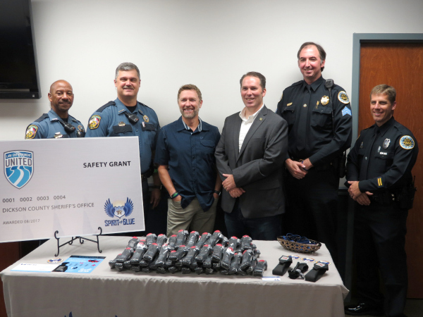 Craig Morgan, Spirit of Blue Present Safety Equipment Grant to Dickson County Sheriff's Office
