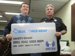Knox County Sheriff's Office Receives Safety Equipment Grant from the Spirit of Blue Foundation