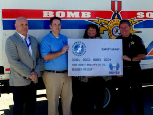 Kane County Sheriff's Office Receives Safety Grant from the Spirit of Blue Foundation.