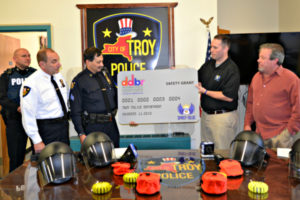 Troy Police Department Receives Safety Equipment Grant From The Spirit of Blue Foundation