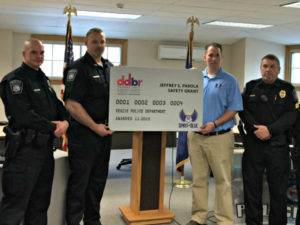 Veazie Police Department Receives Safety Equipment Grant From The Spirit of Blue Foundation