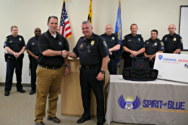 Cambridge Police Department Receives Body Armor Grant From The Spirit of Blue Foundation