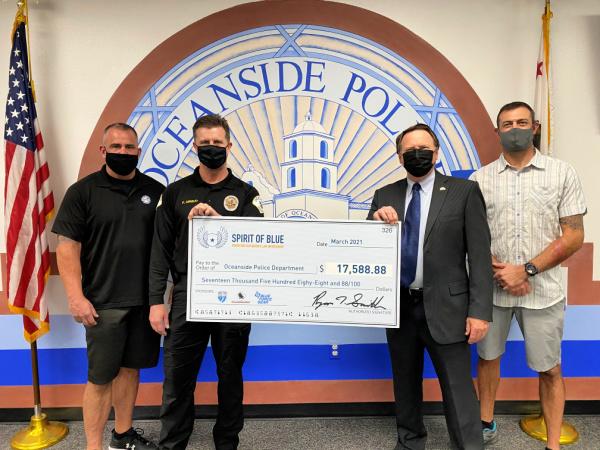 Spirit of Blue Awards Tourniquet Grant to Oceanside Police Department
